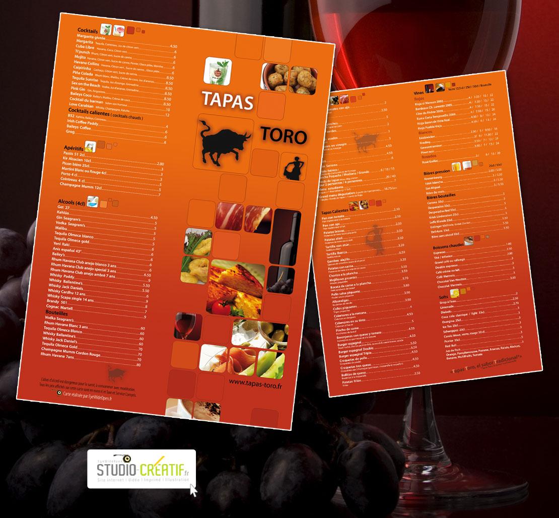 Creation Carte Restaurant