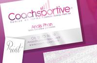 Carte De Visite Vernis Selectif Coach Sportive