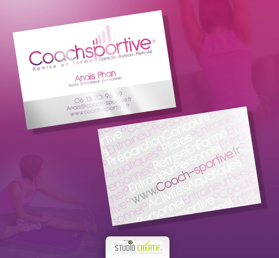 Coach Sportive Carte De Visite Vernis Selectif Studio