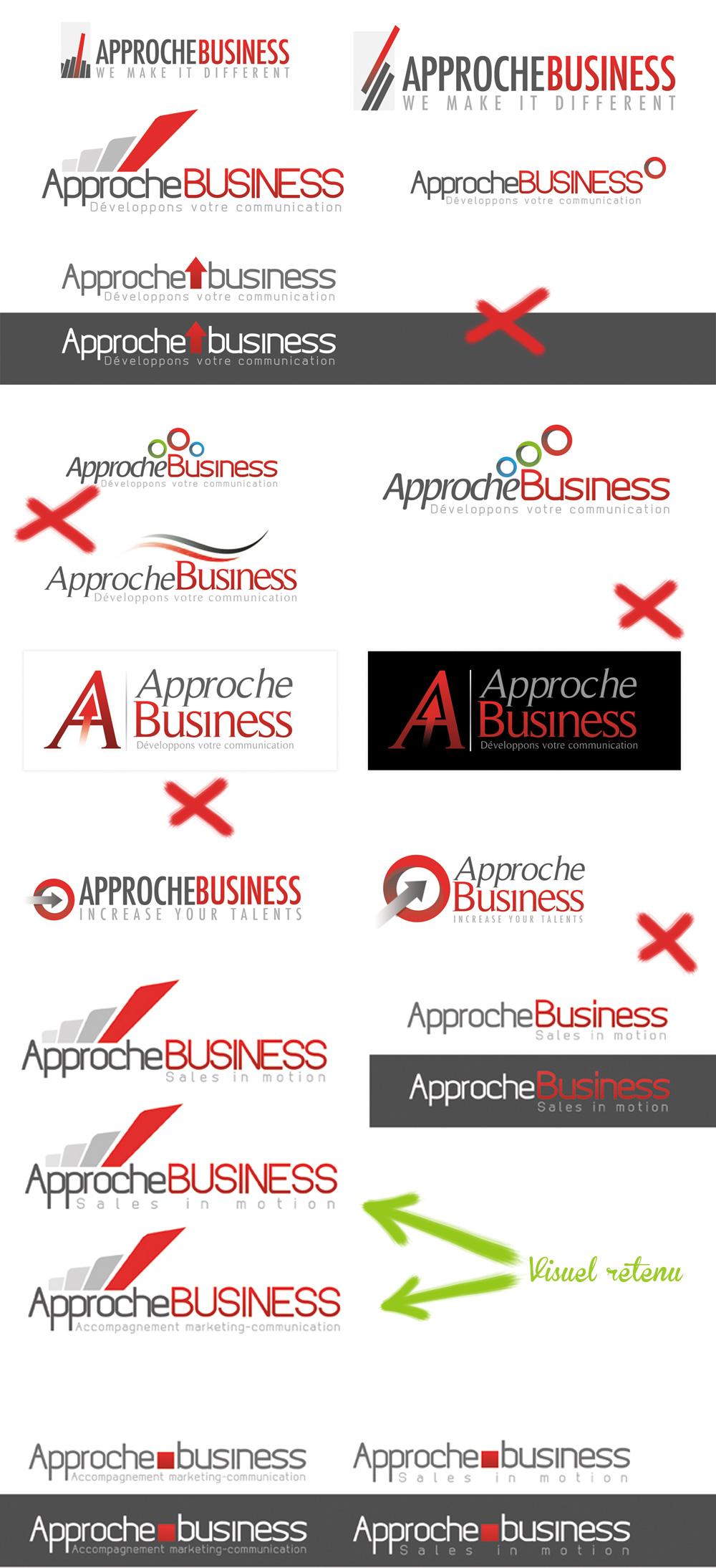 Approche business planche de recherche logo