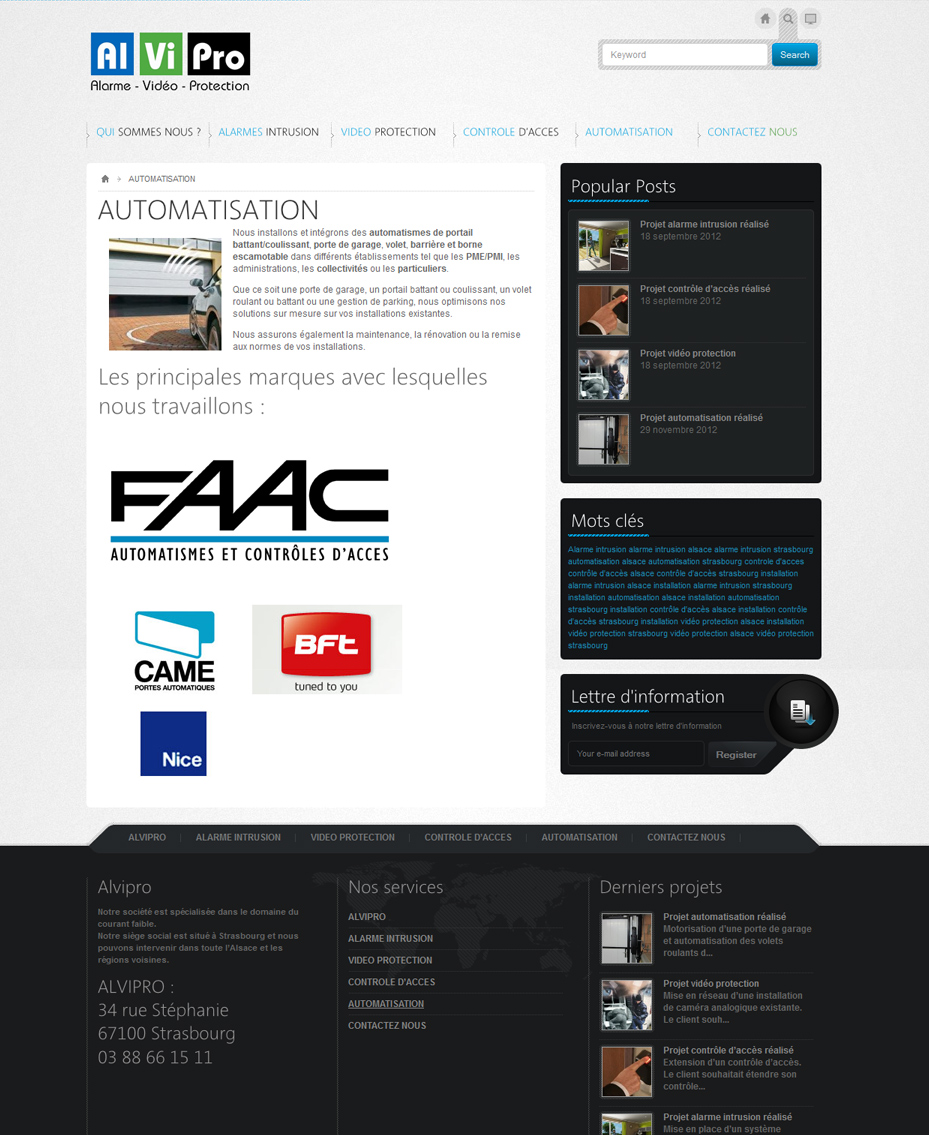 site internet entreprise installateur alvipro