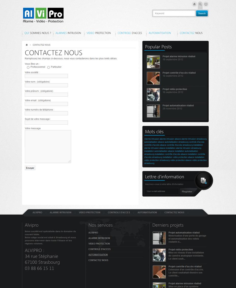 site internet entreprise alvipro