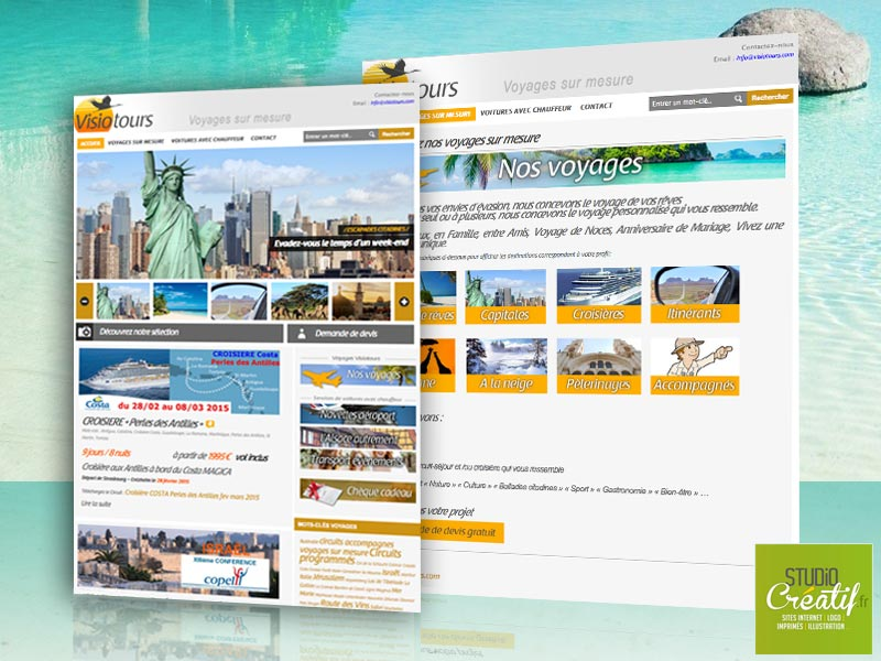 site internet agence voyage visuel