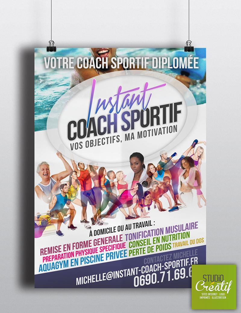 Création Logo flyers Coach sportif