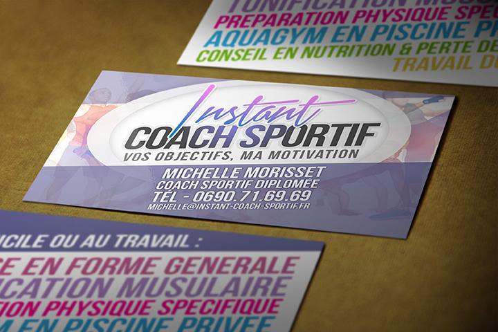 Célèbre Cartes visite coach sportif et Logo - Studio Créatif - Creation E  QS34