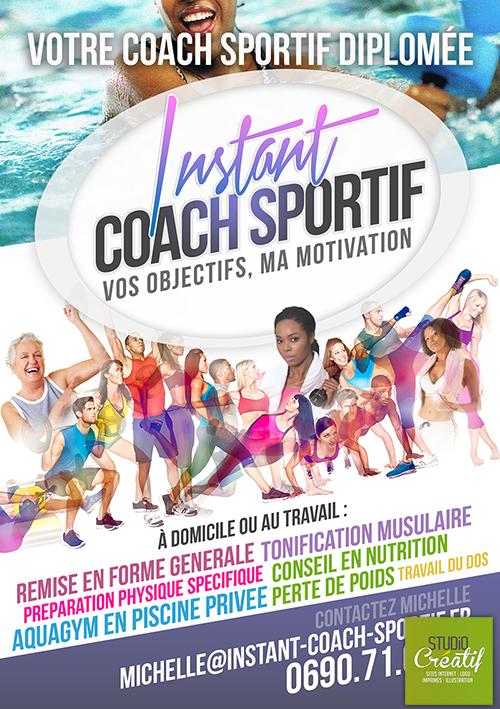 Création Logo flyers Coach sportif Guadeloupe