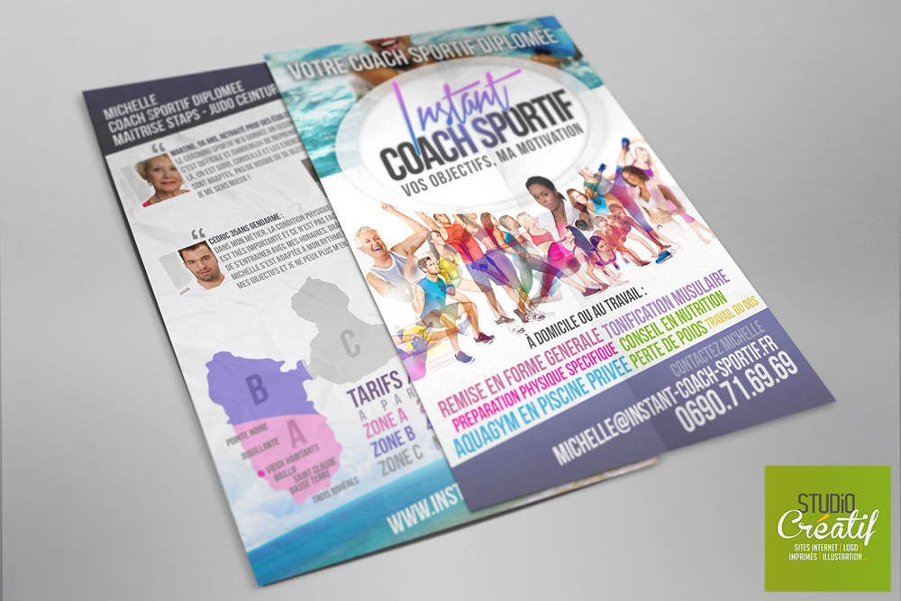 Création Logo flyers Coach sportif visuel