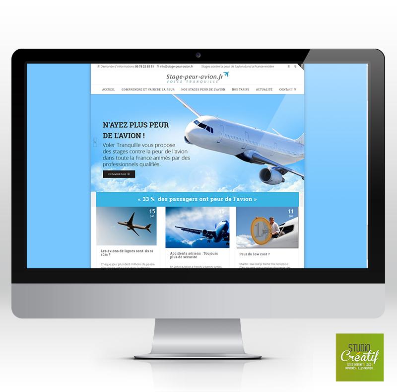 création site vitrine entreprise avion