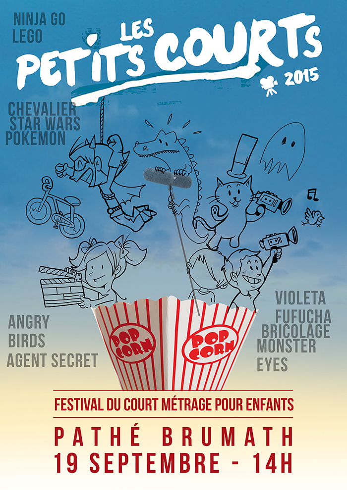 Création affiche festival cinéma illustration enfants brumath
