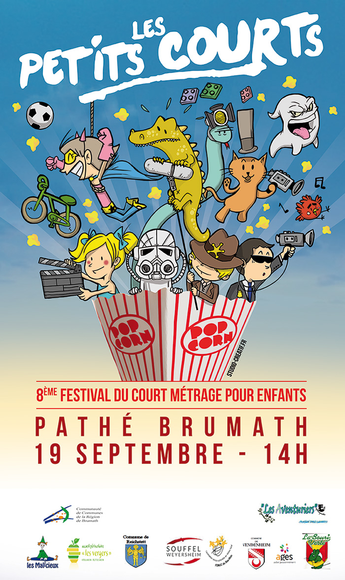 Création affiche festival cinéma illustration enfants pathé brumath