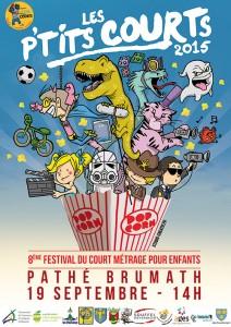 Création affiche festival cinéma illustration enfants strasbourg
