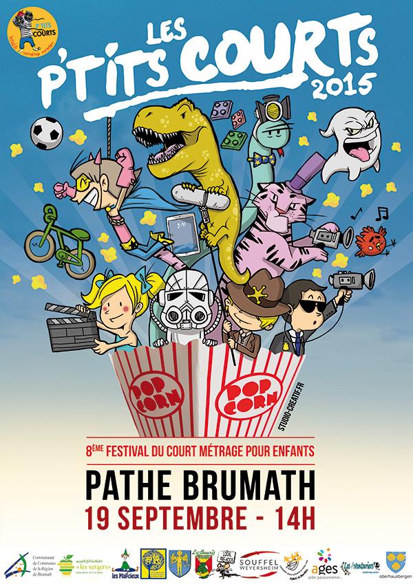 Création affiche festival cinéma illustration enfants