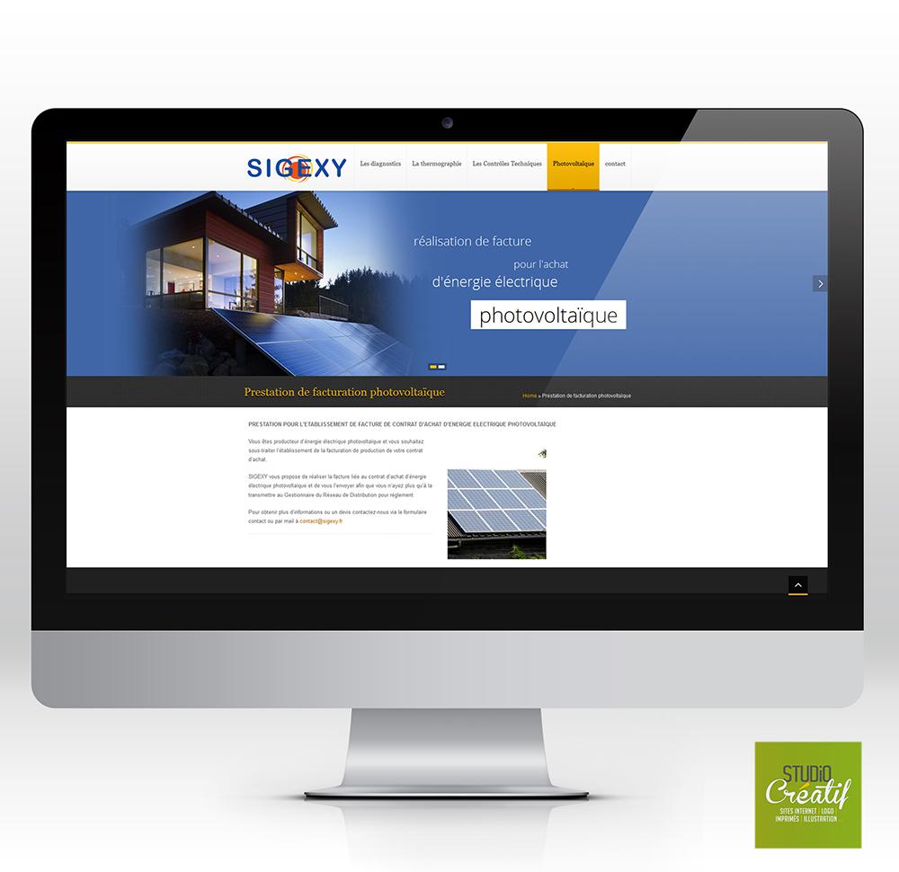 Création site internet immobilier photovoltaique