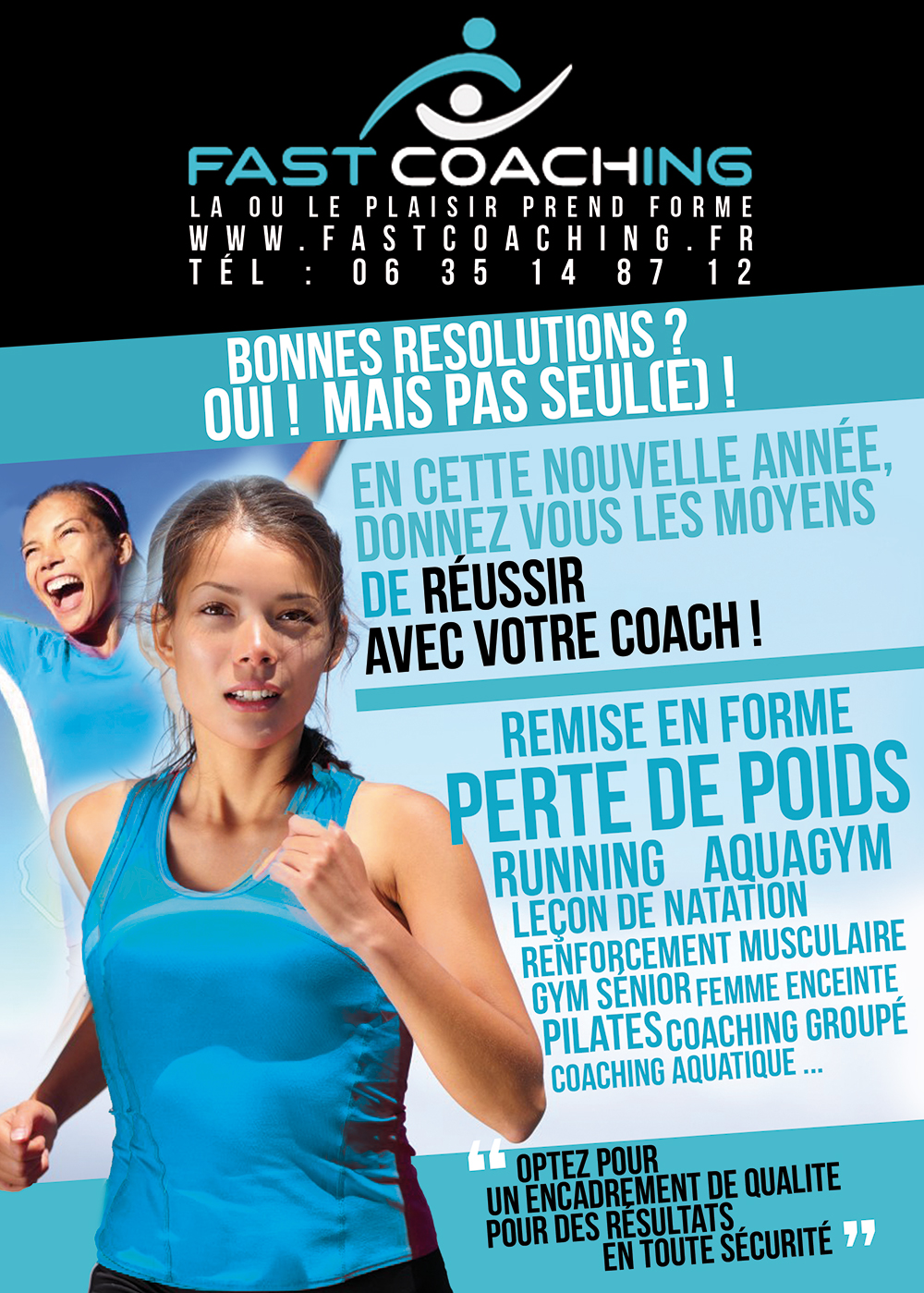 Flyer coach sportif Fast Coaching recto