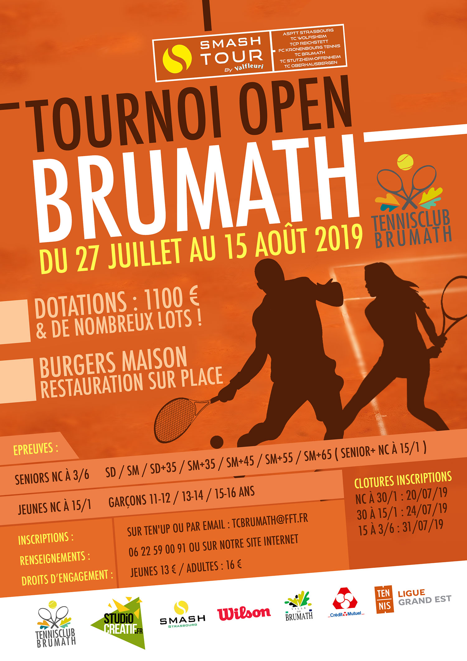 Tournoi tennis Brumath open