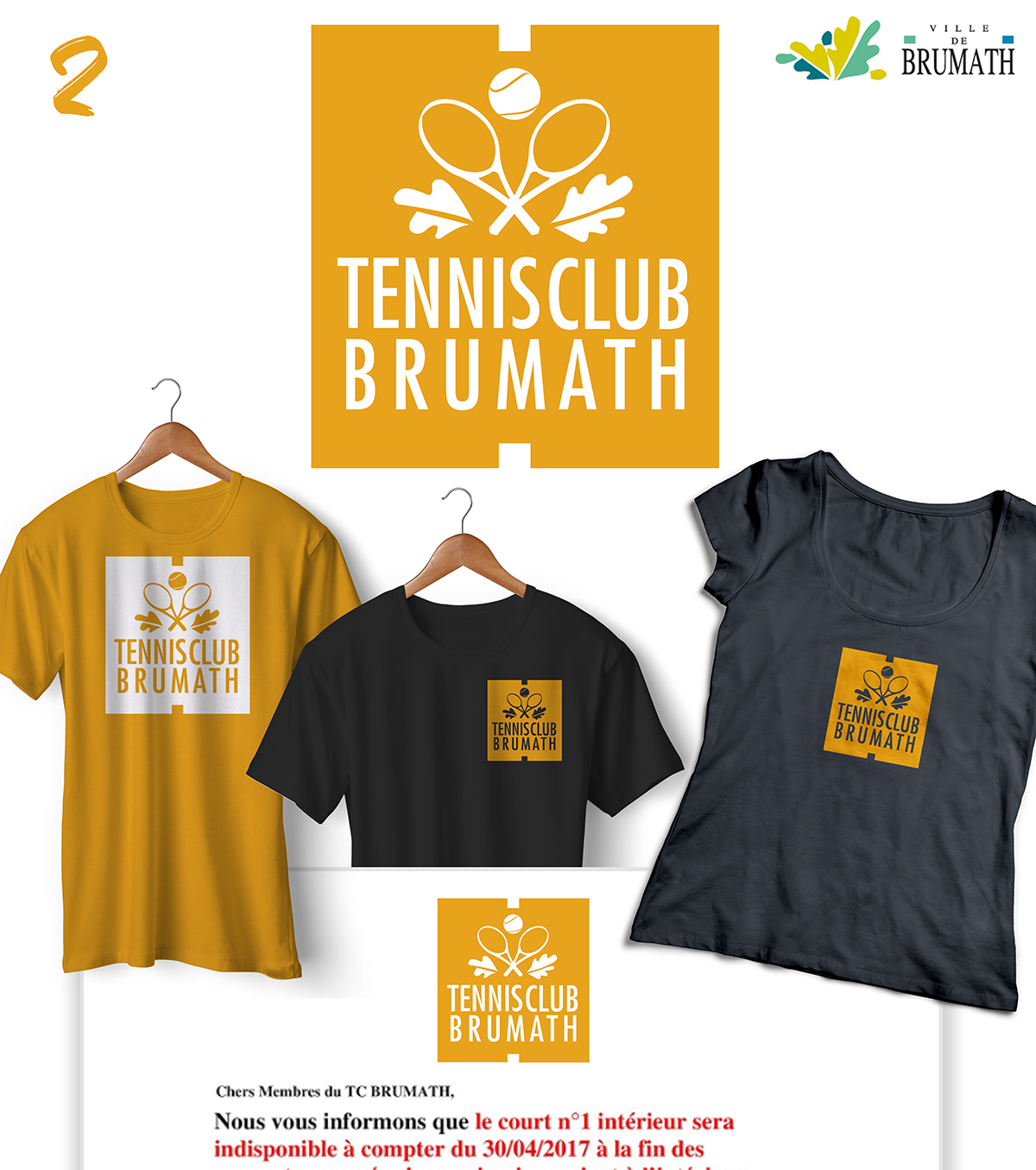 logo tennis club Brumath