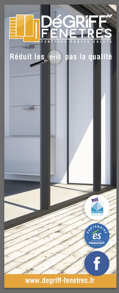 Degriff fenetres creation logo supports comm studio for Porte de garage strasbourg