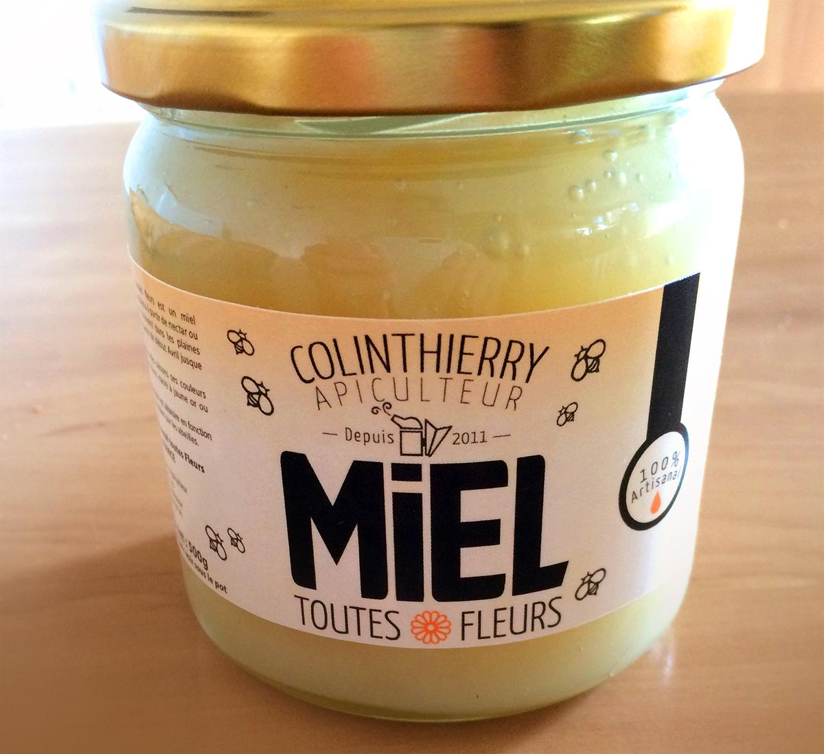 Logo artisan apiculteur design-pot-de-miel