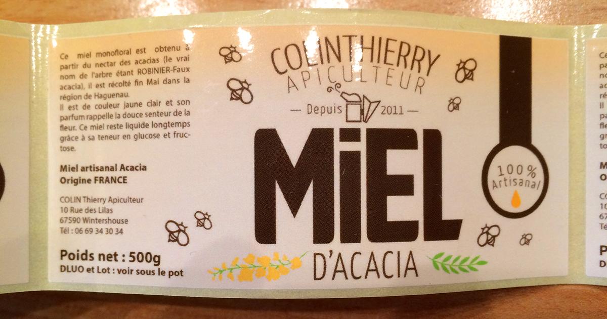 etiquette-pot-de-miel-design Logo artisan apiculteur